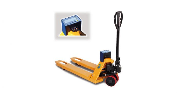 Hand pallet truck with weighing system