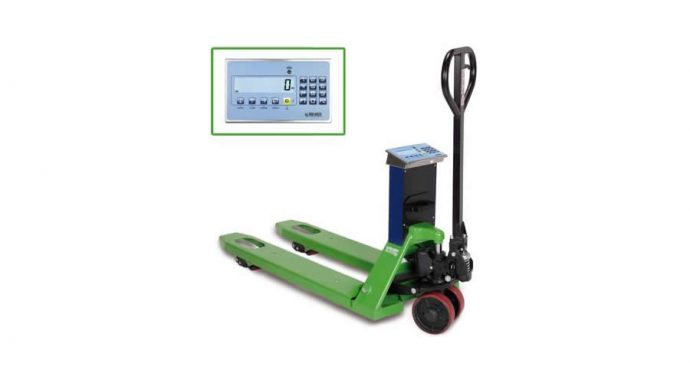 Hand pallet truck with weighing and printer