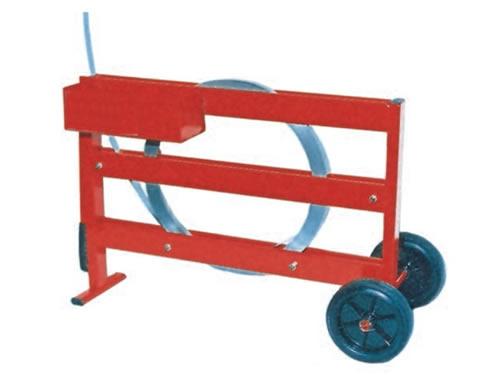 Porta bobine per reggette acciaio